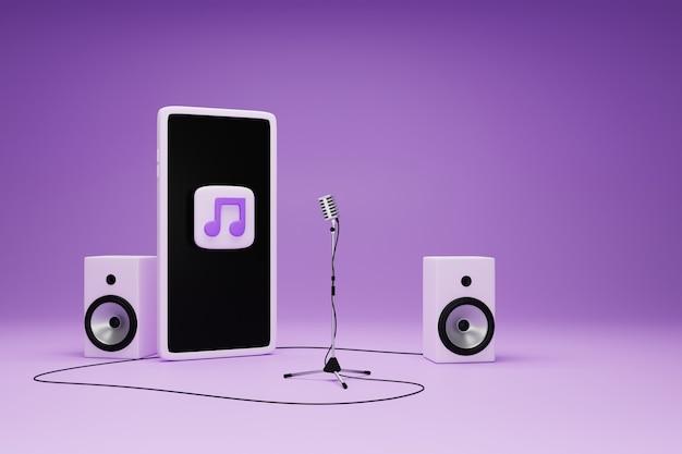 Musique d'application sur le concept de smartphone.