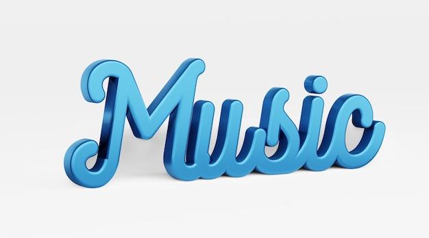 Musique un logo 3d d'expression calligraphique dans le style du rendu 3d de calligraphie de main