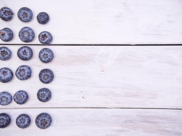 Myrtilles fraîches, concepts pour fond de nourriture saine