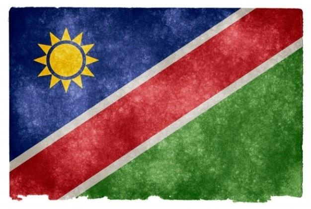 Namibie grunge flag