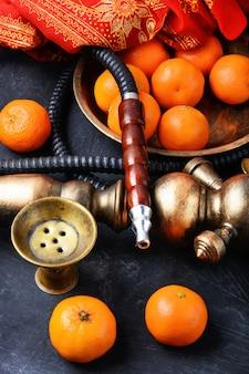 Nargile avec mandarin