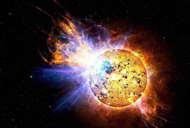 Nasa fusée explosion ev lacertae solaire soleil