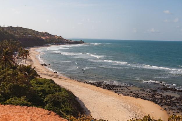 Natal, rio grande do norte, brésil - 12 mars 2021 : praia da pipa à rio grande do norte