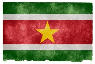 Nation suriname drapeau grunge