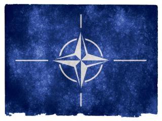 Nato flag grunge