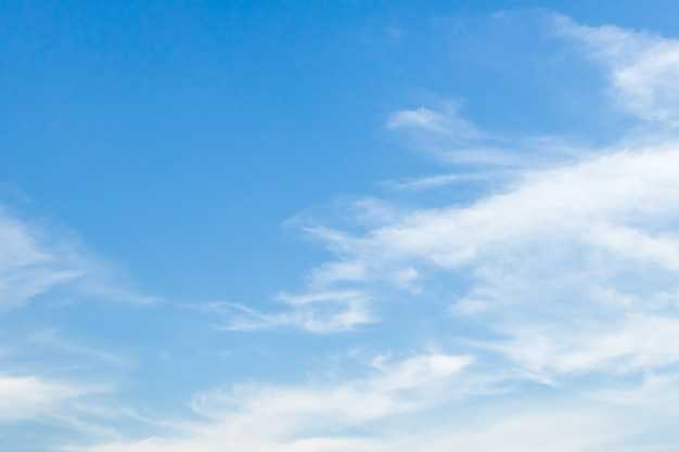 Nature du ciel bleu