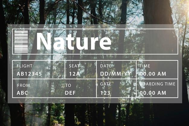 Nature écologie conservation de l'environnement terre