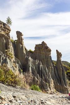 La nature est un grand bâtisseur. beauté de l'île du nord. merveilles de la nouvelle-zélande.
