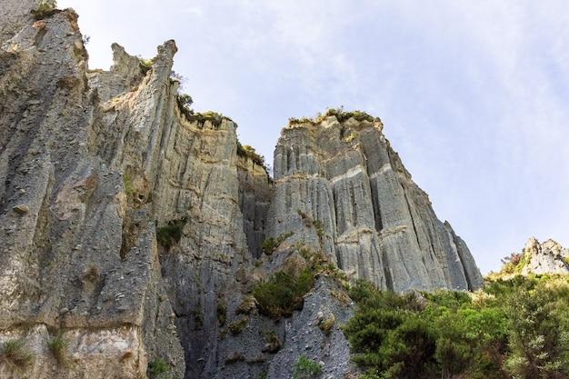 La nature est un grand bâtisseur. beauté de l'île du nord. nouvelle-zélande
