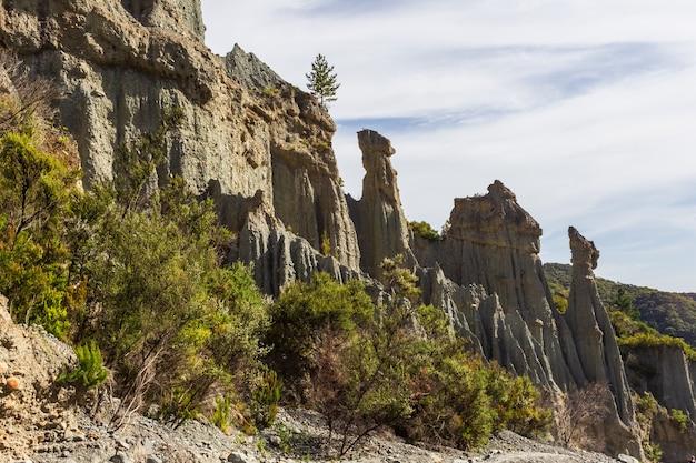 La nature est un grand bâtisseur. beauté de la nouvelle-zélande.