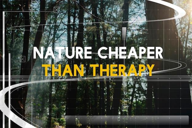 La nature moins cher que la thérapie vacances vacances détente