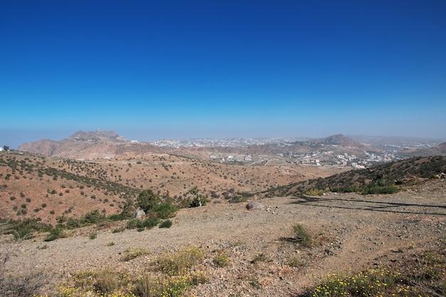 Nature des montagnes du hejaz près de la ville de taif dans la province de la mecque en arabie saoudite