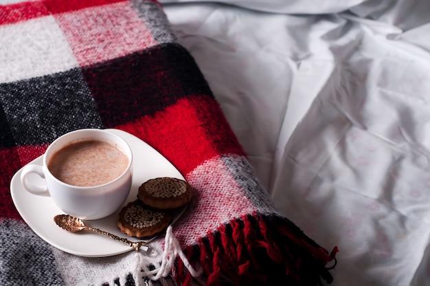Nature morte d'automne avec une tasse de cacao