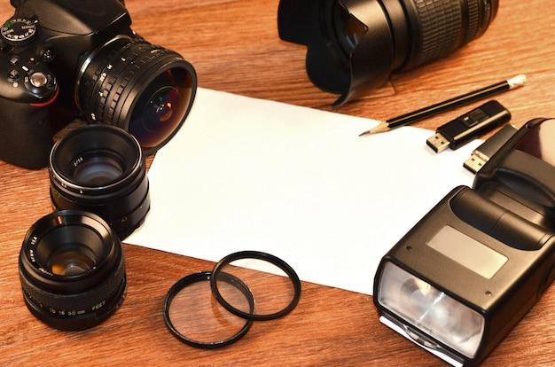 Nature morte avec kit photocamera numérique