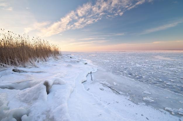 Nature de paysage d'hiver.