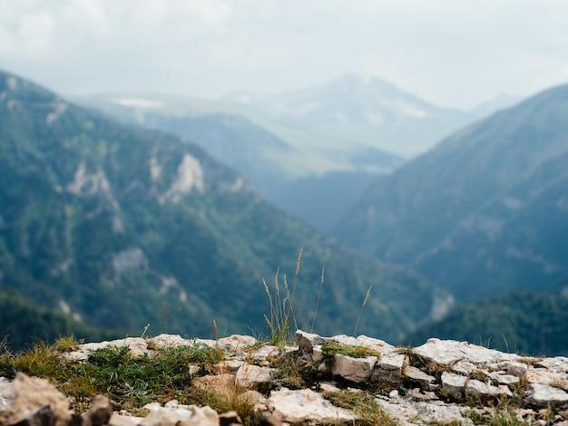 Nature paysage montagnes voyage liberté. photo de haute qualité