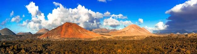 Nature spectaculaire de lanzarote volcanique. les îles canaries