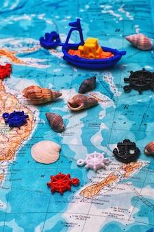 Navire symbolique sur la carte