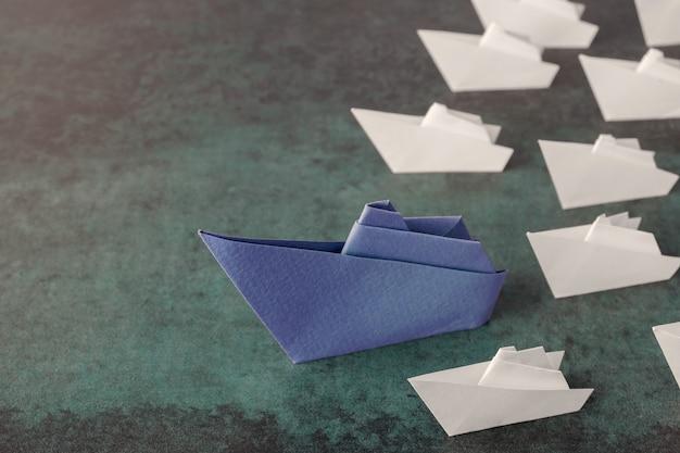 Navires en papier origami