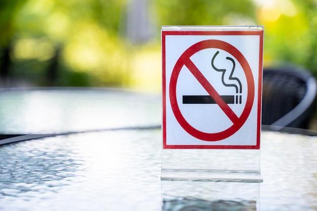 Ne pas fumer signe non fumeur signe dans café café