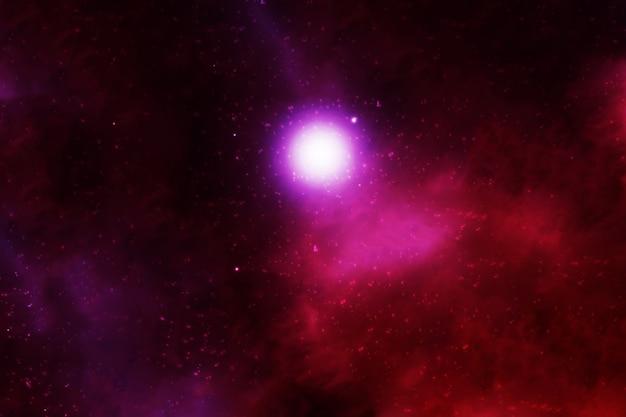 Nébuleuse de l'espace rouge vif. les éléments de cette image ont été fournis par la nasa. photo de haute qualité