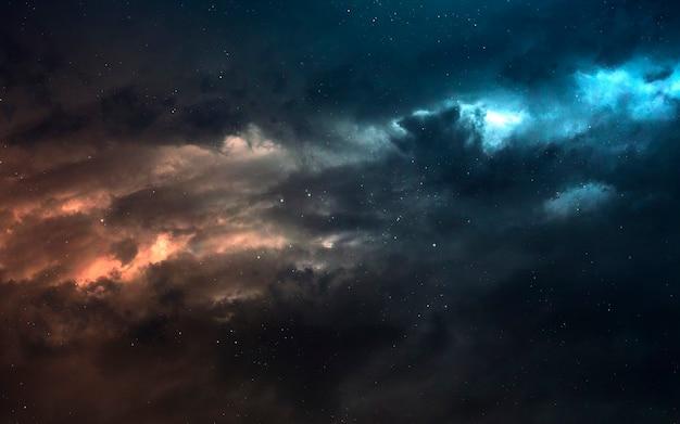 Nébuleuse un nuage interstellaire de poussière d'étoile. image de l'espace lointain, fantaisie de science-fiction en haute résolution idéale pour le papier peint et l'impression. éléments de cette image fournis par la nasa