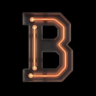 Neon light alphabet b