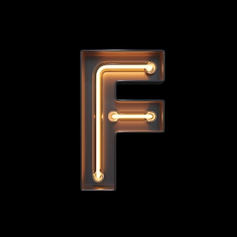 Neon light alphabet f
