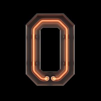 Neon light alphabet o