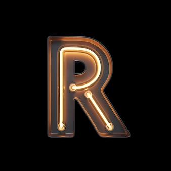 Neon light alphabet r