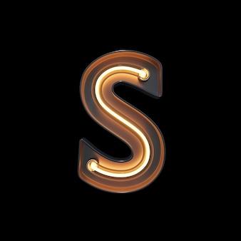 Neon light alphabet s