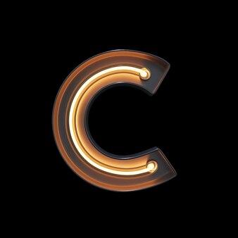 Neon light alphabet c