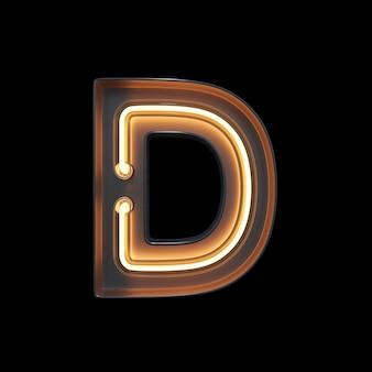 Neon light alphabet d