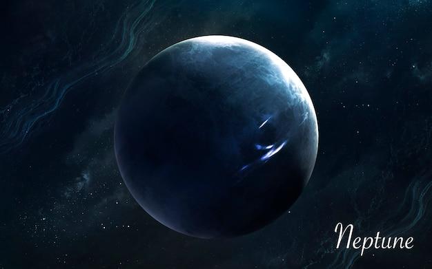 Neptune. planètes de qualité impressionnante du système solaire. image scientifique parfaite en 5k. éléments de cette image fournis par la nasa
