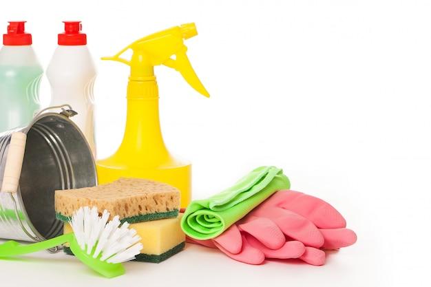 Nettoyage coloré et brillant situé sur un