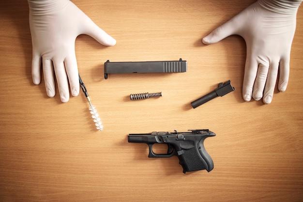 Nettoyage et entretien des armes à feu après utilisation au champ de tir