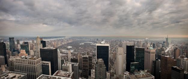 New York Depuis Le Bâtiment Rock Feller Photo Premium