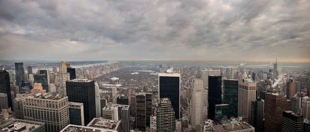 New york depuis le bâtiment rock feller