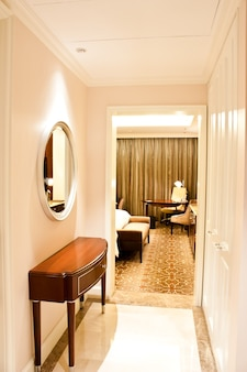 New york, intérieur d'un hôtel de luxe