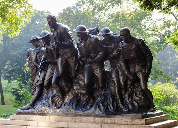 New york statue de soldats de la première guerre mondiale, central park.