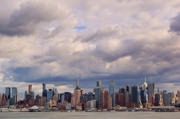 New york usa tempête sur la ville