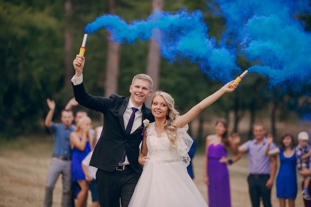 Newlyweds fusées de maintien