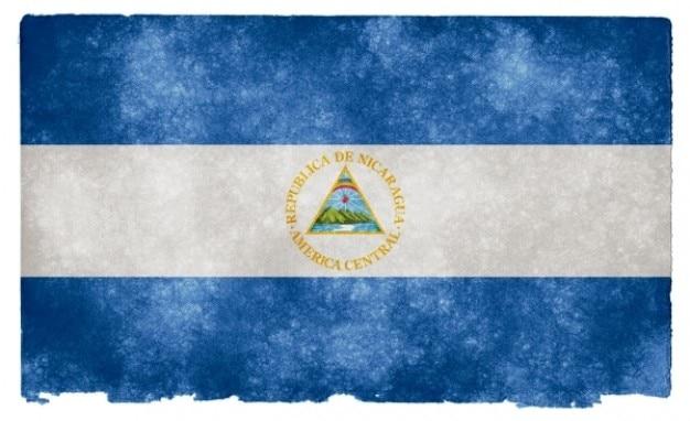 Nicaragua flag grunge