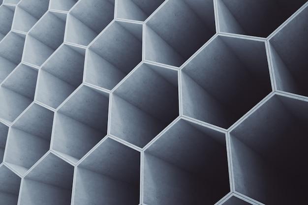 Nid d'abeilles en béton, motif hexagonal ou papier peint.