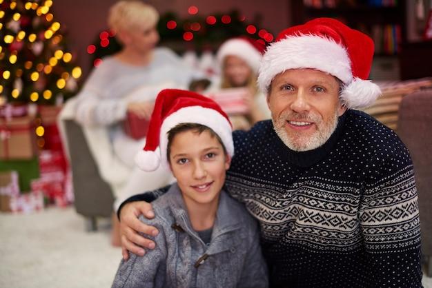 Noël comme le temps réservé à la famille
