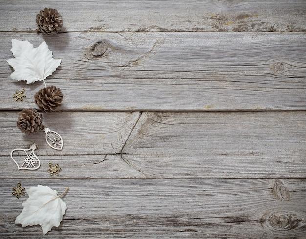 Noël avec décoration en bois