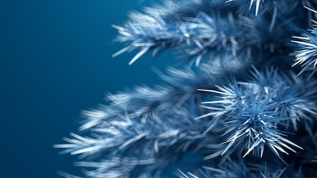 Noël, fond avec un arbre de noël rendu 3d illustration