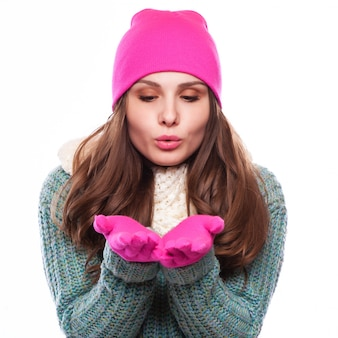 Noël girl.winter femme poudrerie