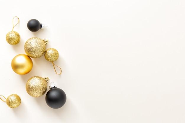 Noël minimaliste fond plat lay