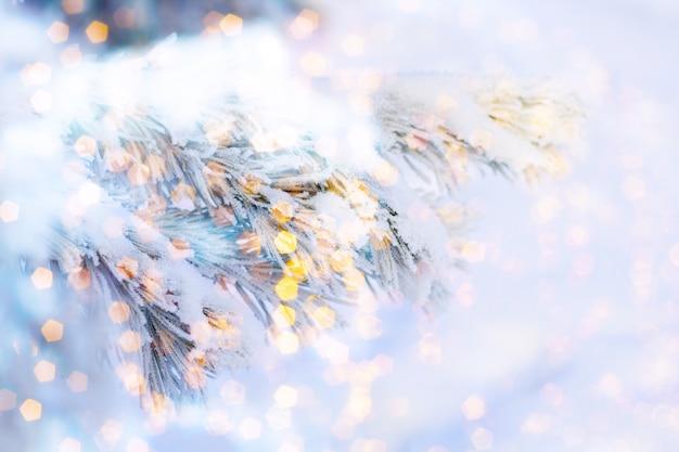 Noël ou nouvel an flou fond abstrait